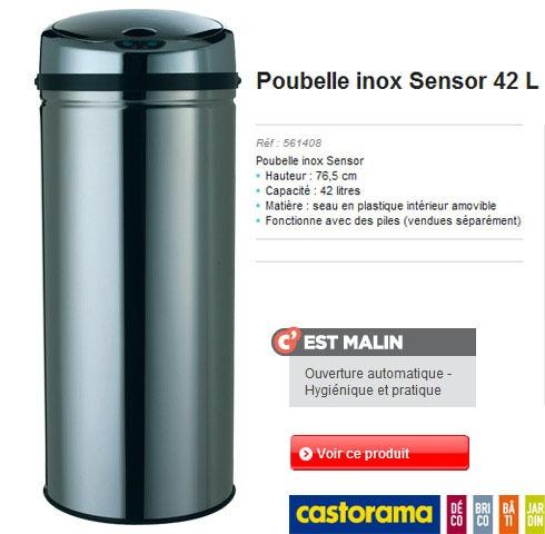 Poubelle inox Sensor