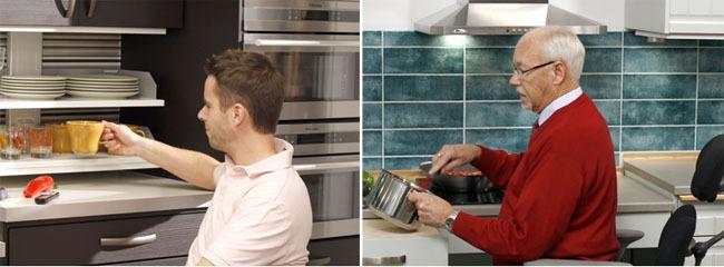 Handicap et am nagement de la maison quipez votre cuisine for Equipement cuisine amenagee