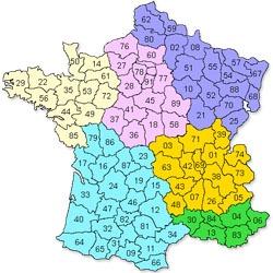 Carte de France installateur éolien