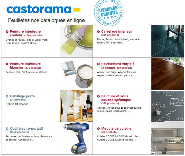 castorama commandez en ligne tout ce qu 39 il faut pour vos travaux. Black Bedroom Furniture Sets. Home Design Ideas