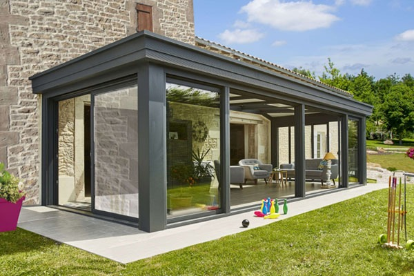 Extension de maison veranda en aluminium