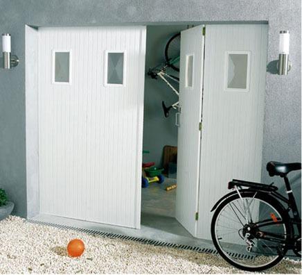 Porte de garage battante