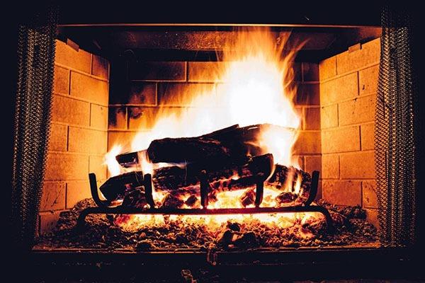 feu de cheminée ancienne